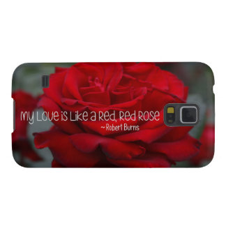 Samsung S5, Barely There Case My Love Red Rose