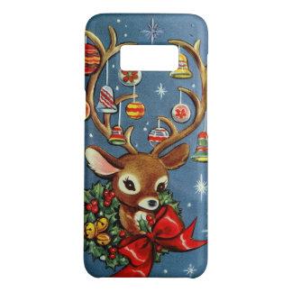 Samsung S8 Vintage retro reindeer Christmas case