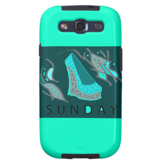 SamsungS3 iphone case with aqua wedge desing Galaxy SIII Cover