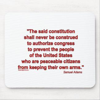 Samual Adams on Gun Rights Mouse Pads