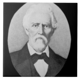Samuel A. Maverick (1803-70) (b/w photo) Large Square Tile
