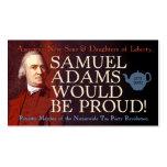Samuel Adams business card