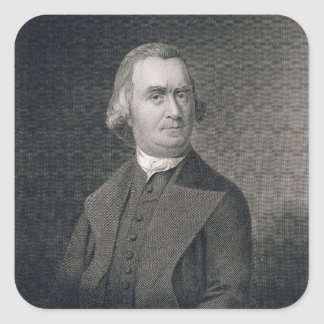 Samuel Adams, engraved by G.F. Storm (fl.c.1834) a Square Sticker