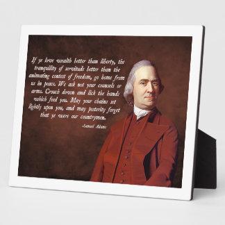 Samuel Adams Liberty Display Plaques