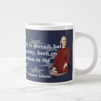 Samuel Adams Quote on Brush Fires of Freedom Large Coffee Mug