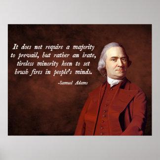 Samuel Adams Quote Poster