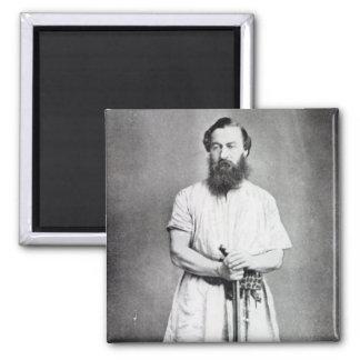 Samuel Baker, 1865 Square Magnet