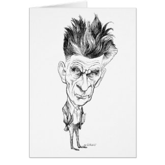 Samuel Beckett Caricature by Edmund S Valtman Greeting Card