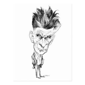 Samuel Beckett Caricature by Edmund S Valtman Postcard
