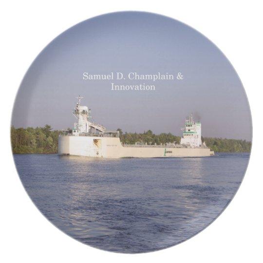 Samuel D. Champlain & Innovation plate