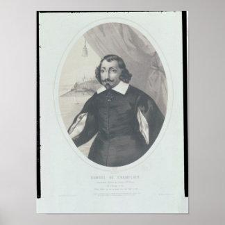 Samuel de Champlain  1854 Poster