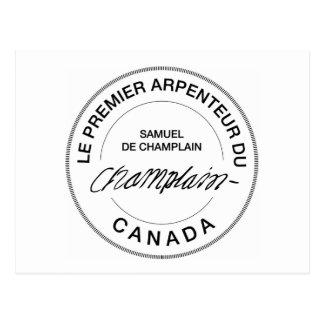 Samuel de Champlain Arpenteur du Canada Postcard
