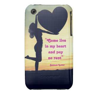 Samuel Lover quote heart love inspiration iPhone 3 Cases