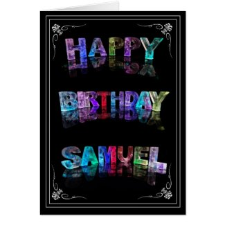 Samuel - Name in Lights greeting card (Photo)