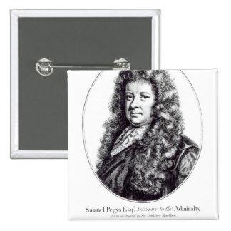 Samuel Pepys 15 Cm Square Badge