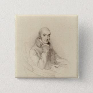 Samuel Rogers, engraved by William Finden 15 Cm Square Badge