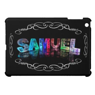 Samuel - The Name Samuel in 3D Lights (Photograph Case For iPad Mini