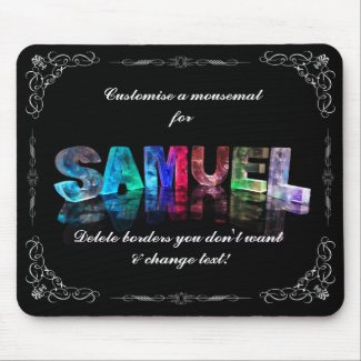 Samuel - The Name Samuel in 3D Lights (Photograph Mouse Pad