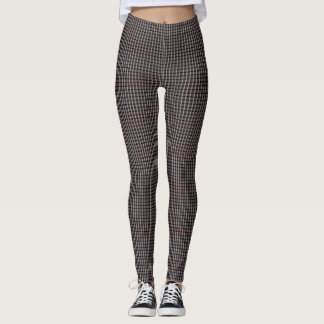 Samuels Brown Plaid Designer Leggings