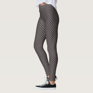 Samuels Brown White Plaid Twisted Designer Legging