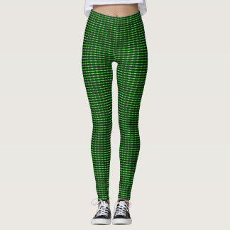 Samuels Green Plaid Designer Leggings