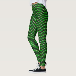 Samuels Green Plaid Twisted Designer Leggings