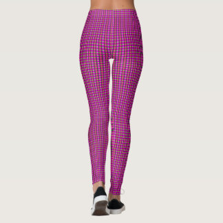 Samuels Pink Plaid Designer Leggings