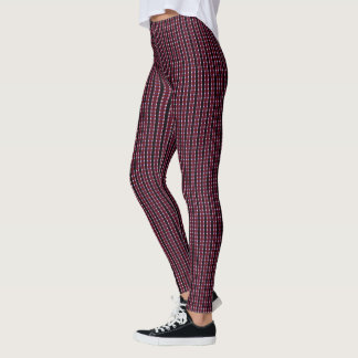 Samuels Red-Black Plaid Designer Leggings