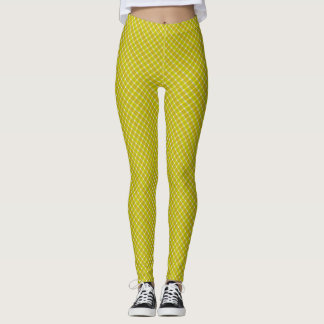 Samuels Yellow Plaid Twisted Designer Leggings