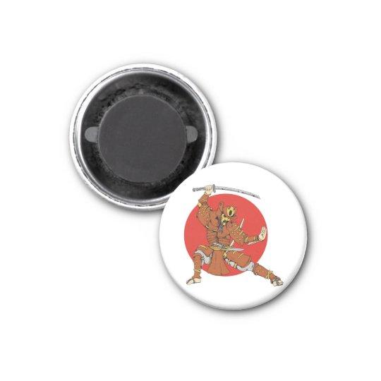 Samurai 3 Cm Round Magnet