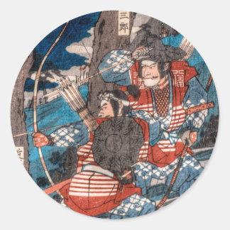 Samurai Ambush Round Sticker