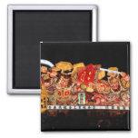 Samurai and Demon Japanese Festival Float Refrigerator Magnet