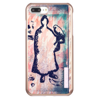 Samurai and Falcon Watercolor Sakura Pink Graffiti Incipio DualPro Shine iPhone 8 Plus/7 Plus Case