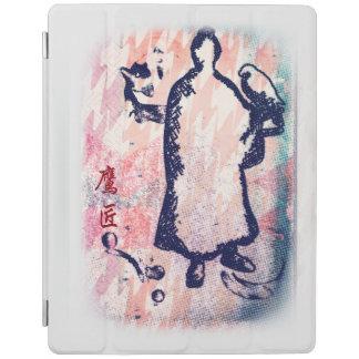 Samurai and Falcon Watercolor Sakura Pink Graffiti iPad Cover
