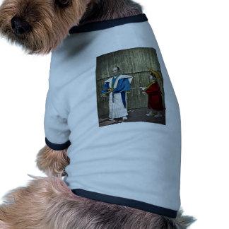 Samurai and Servant Ringer Dog Shirt