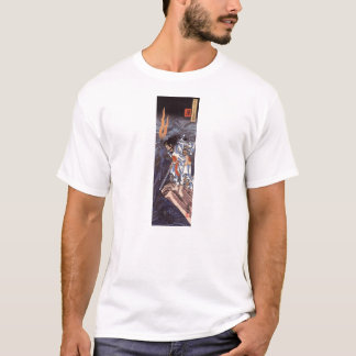 Samurai and Water Dragon Vintage Japanese Print T-Shirt