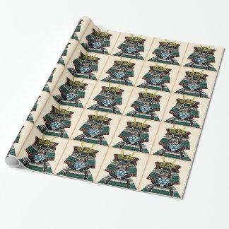 Samurai Armor Ō-yoroi japanese classic art tattoo Wrapping Paper