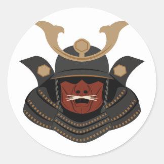 Samurai Armor Round Sticker