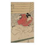Samurai Art from Japan circa 1800s Business Card Templates