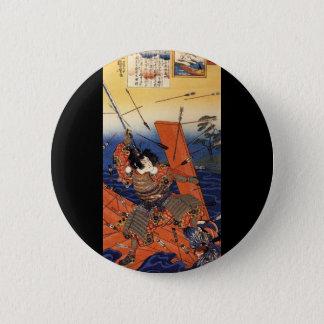 Samurai at War, circa 1800's 6 Cm Round Badge
