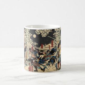 Samurai at war in the snow circa 1800's coffee mug