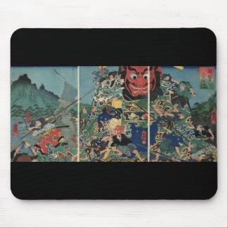 Samurai at war painting circa 1800's mouse mat