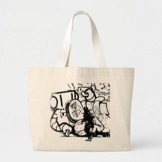Samurai Caricature Artwork (canvas bag) Jumbo Tote Bag