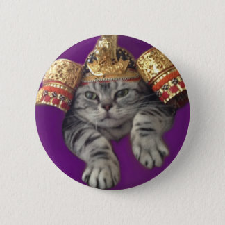 Samurai cat pin
