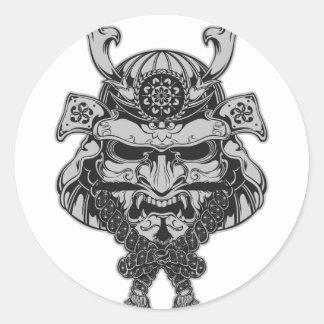 Samurai Classic Round Sticker