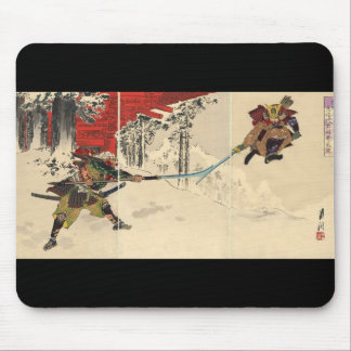 Samurai combat in the snow circa 1890 mouse mat
