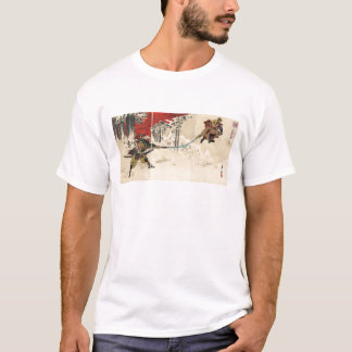 Samurai combat in the snow circa 1890 T-Shirt