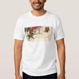 Samurai combat in the snow circa 1890 t-shirts