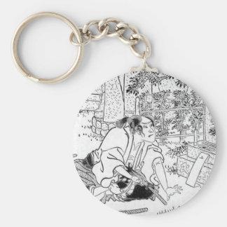 Samurai committing Hara-Kiri Key Chains