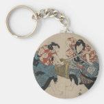 Samurai Crossing Swords circa 1825 Key Chain
